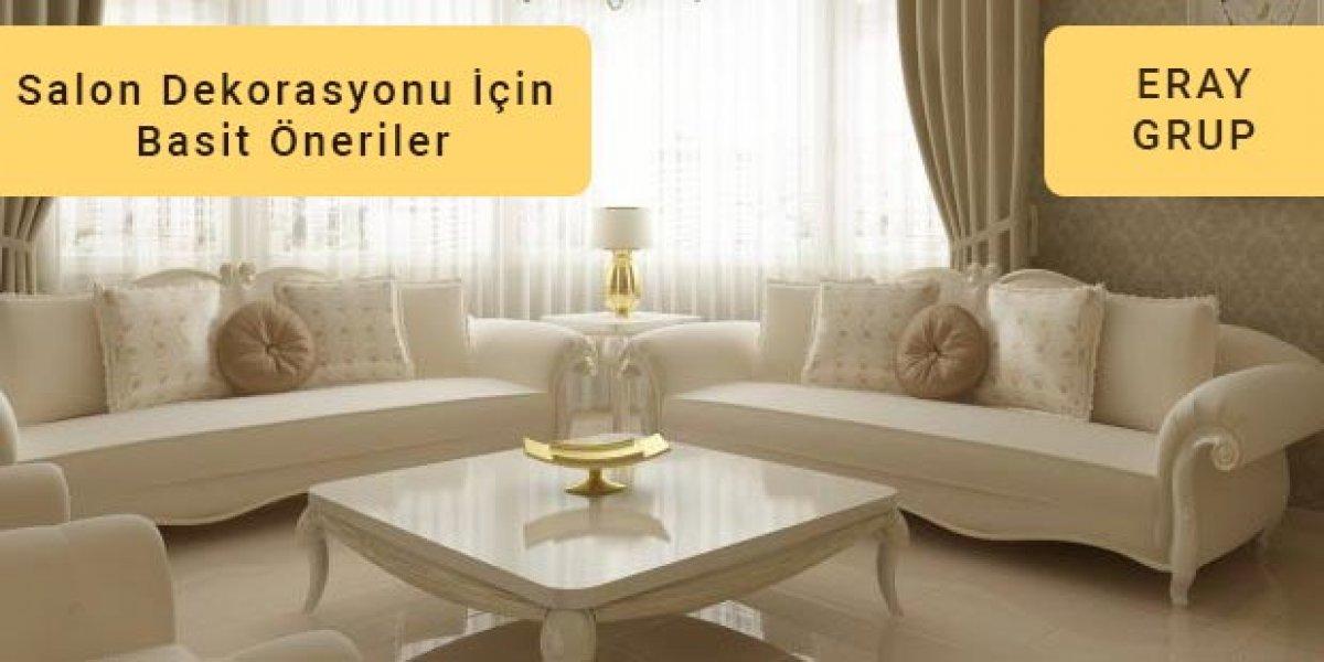 Salon Tadilatı & Dekorasyonu İçin Basit Fikir & Öneriler