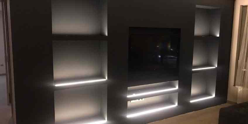 alçıpan tv duvar ünitesi